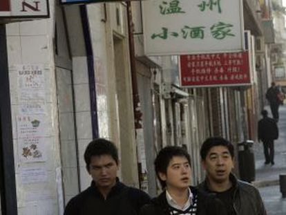 Comercios de inmigrantes chinos en el barrio de Usera (Madrid).