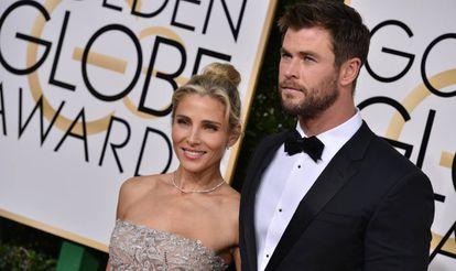 Los actores Elsa Pataky y Chris Hemsworth.