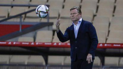 Koeman, durante la final de la Copa.