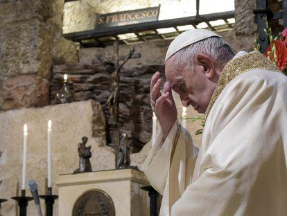 El papa Francisco el pasado sábado durante una visita a Asís.