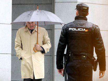 Luis Bárcenas, el 28 de mayo de 2018, tras ser condenado por el caso Gürtel.