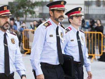 El jefe de los Mossos, Josep Lluis Trapero acude a declarar a la Audiencia Nacional.