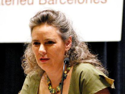 Anna Agustí en la presentación de la 'Obra Completa' de Antoni Tàpies