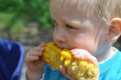 Los más pequeños también pueden comer sólidos no triturados.