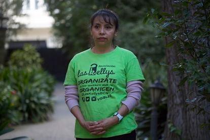 Miriam Suárez, camarera de piso en un hotel de Barcelona, el 29 de enero.