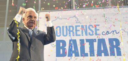 Baltar saluda a sus fieles en el homenaje que recibió el pasado 24 de junio