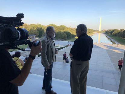 Un instante de la grabación de la serie documental 'Palomares' en Washington, D. C.