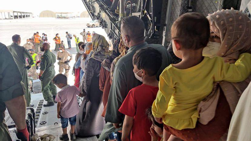 Afganos rescatados