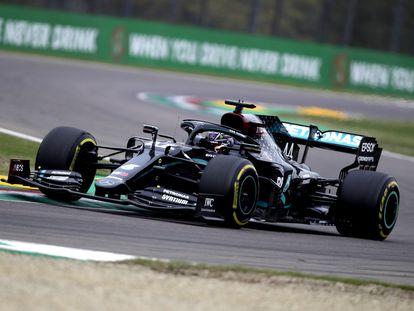 Hamilton, durante la carrera.