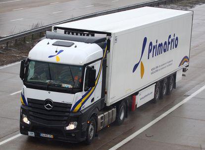 Un camión de Primafrío.