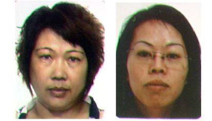 De izquierda a derecha, la doctora Huang y Lingfen Yin, los cerebros de las dos redes criminales desmanteladas las últimas semanas.