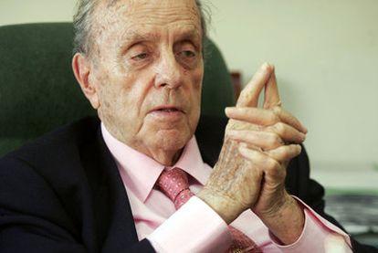 El presidente fundador del Partido Popular durante la entrevista, en julio de 2007.