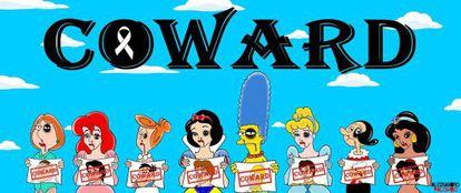 Protagonistas de dibujos animados para la campaña del artisa itlaiano.