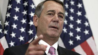 El republicano John Boehner en la Cámara de Representantes.