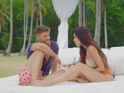 Ismael y Andreína, dos de los participantes en 'La isla de las tentaciones'.