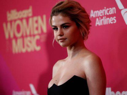 Selena Gomez, anoche en los premios Billboard Women in Music celebrados en Los Ángeles.