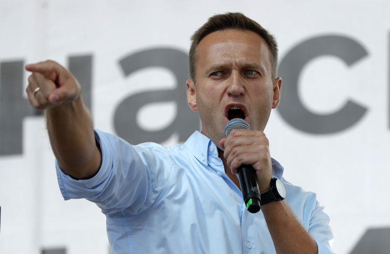 Navalni durante un acto político en julio de 2019 en Moscú.