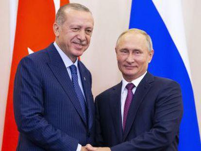 Putin y Erdogan pactan crear una zona desmilitarizada patrullada por fuerzas de ambos países
