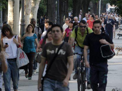 Muchos ciudadanos han optado por andar o utilizar bicicletas para llegar a sus destinos