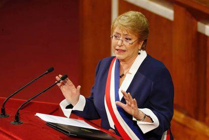 Michelle Bachelet realiza en su último discurso de Cuenta Pública.