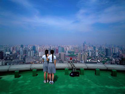 Imagen de la serie 'Birds Eye View, Shanghai' (2004), del artista chino Weng Fen.