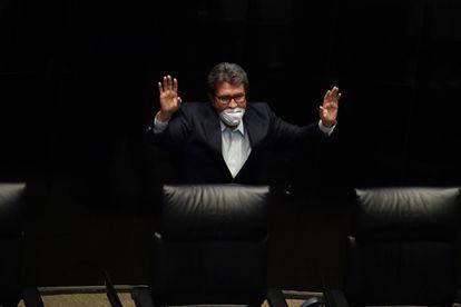 Ricardo Monreal, líder de Morena, el partido gobernante, en el Senado mexicano.
