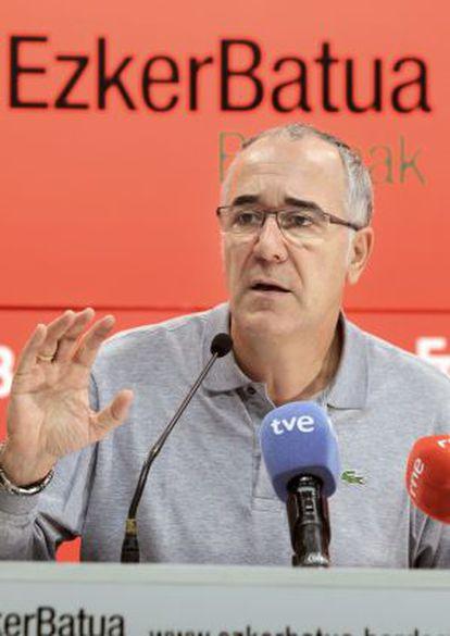 José Navas, portavoz del sector de Ezker Batua Berdeak.