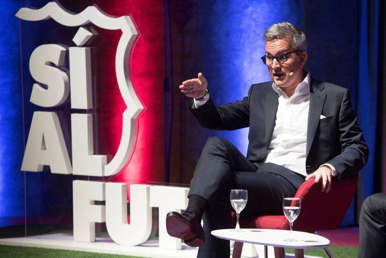 Víctor Font, en 2019, durante la presentación de su proyecto para presidir el FC Barcelona.