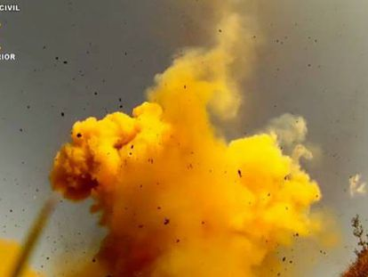La Guardia Civil destruye casi 1,5 toneladas de explosivos incautados a ETA