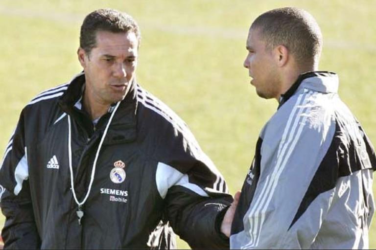 Wanderley Luxemburgo, junto a Ronaldo.