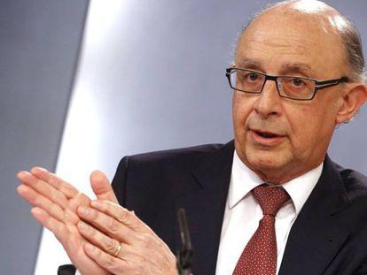 El ministro de Hacienda y Administraciones Públicas, Cristóbal Montoro. Bernardo Perez