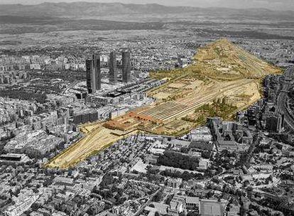 Área en la que se levantará el proyecto conocido como Operación Chamartín.