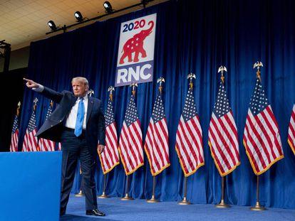 El presidente de EE UU, Donald Trump, en la Convención Republicana celebrada en agosto.