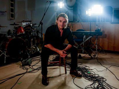 El músico Nacho Cano durante su entrevista con Europa Press, este sábado.