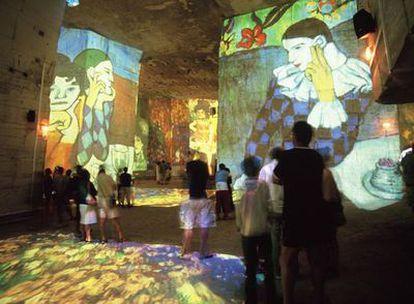 Audiovisual sobre Picasso que se proyecta en la Catedral de las Imágenes de Les Baux-de-Provence hasta el 3 de enero.