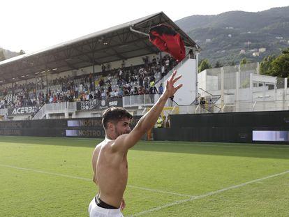Brahim Diaz celebra la victoria contra La Spezia.