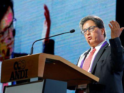 Alberto Carrasquilla Barrera durante una conferencia en Medellín, en 2019.