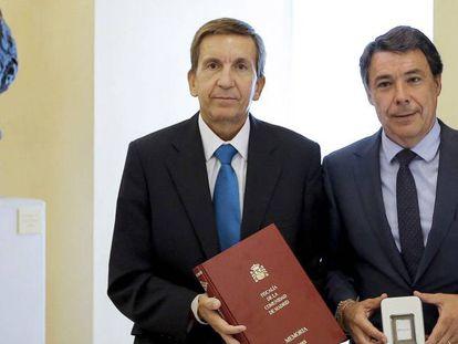 Ignacio González con el fiscal jefe Madrid, Manuel Moix.