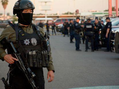 La Policía Estatal Preventiva de Culiacán en un operativo realizado en 2020 en Sinaloa, México.