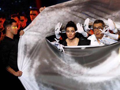 Silvia Abril y Andreu Buenafuente durante la gala de entrega de los Premios Goya 2020