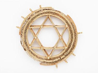 Estrella de David de oro del siglo XI que forma parte del tesoro de La Amarguilla.