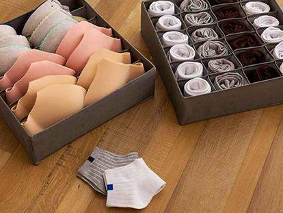 Elegimos el set de tres compartimentos más vendido en Amazon para organizar la ropa del dormitorio.