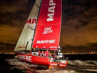 Llegada del Mapfre a Melbourne el 24 de diciembre.