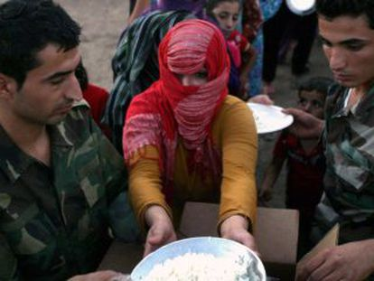 Una refugiada sirian de origen kurdo en el campo de Quru Gusik.