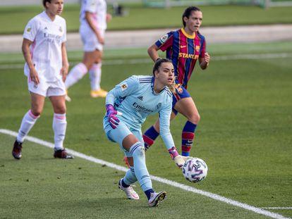 Misa Rodríguez, durante un Madrid-Barça el pasado octubre en Valdebebas.