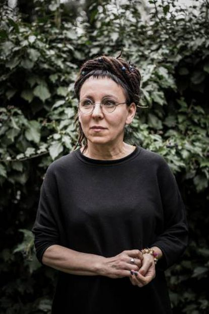 La escritora Olga Tokarczuk, en Varsovia en 2018.