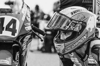 El piloto onubense Hugo Millán, de 14 años, fallecido este domingo en un accidente en el circuito de Motorland, en Alcañiz (Teruel).   .