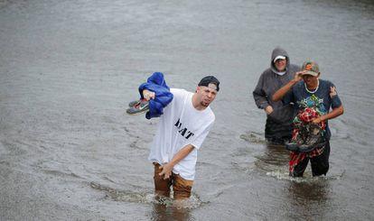 Inundaciones por el huracán Matthew, este sábado en Carolina del Sur (EE UU).