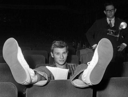 Johnny Hallyday en el Olympia de París, en 1962