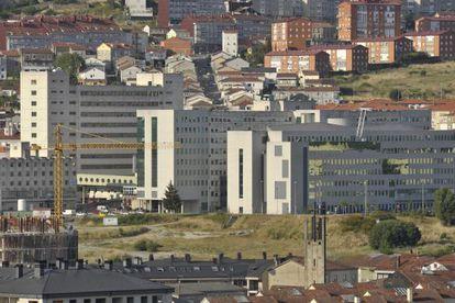 Exterior del Complexo Hospitalario Universitario de Ourense.